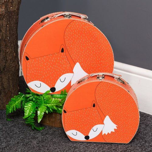 Animal Friends Fox Storage Cases - Set of 2 Fox Woodland themed storage boxes